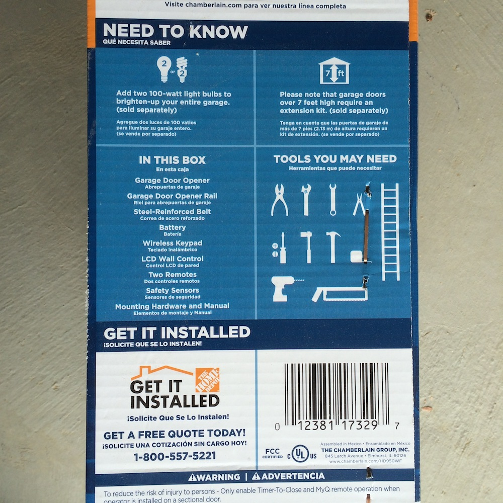 The Chamberlain Hd950wf Garage Door Opener Review On Access Master Wiring