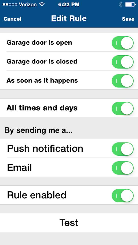 100 garage door alarm com smart home solutions