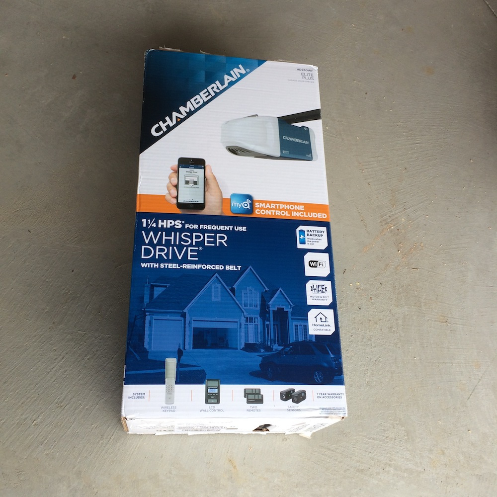 Chamberlain Garage Door Opener Box the chamberlain hd950wf garage door opener review