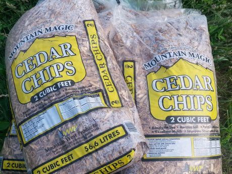 Commercial Cedar chips cost more, but they last a long time and look great in smaller applications.