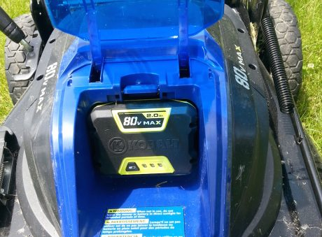 "The 80 Volt ""power brick"" is easy to change."