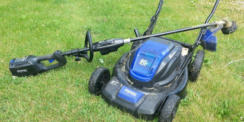 kobalt 80v mower and 80v string trimmer