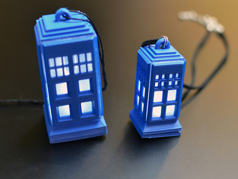 Make a tiny Tardis, with help from your friends at Adafruit!