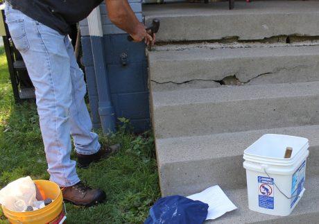 quikrete stair repair