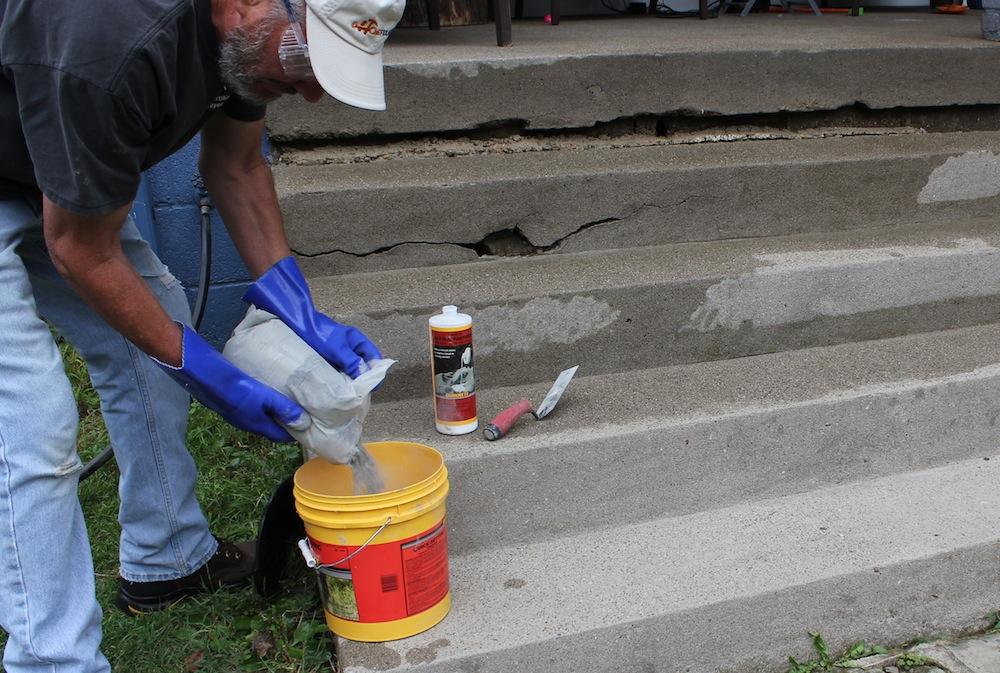 Quick Setting Cement : Quikrete stair repair when your stairway to heaven looks