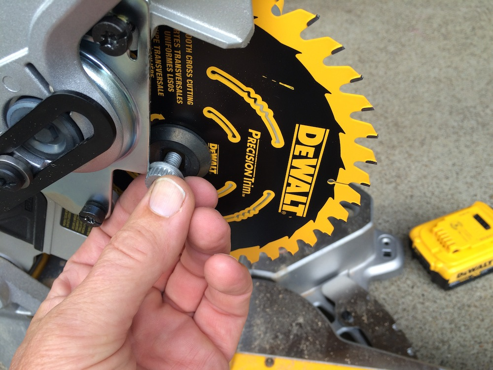 Dewalt 20v max miter saw review sliding into a new niche depress the spindle lock dewalt 20v max miter saw keyboard keysfo Image collections