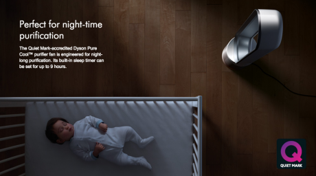 Dyson presumably touting quiet function and clean air - however we were too distracted by the amount of hair on that baby to notice