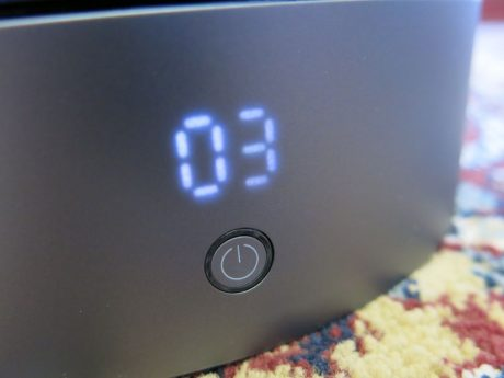The fan speed display thoughtfully dims after a short delay, however it can be hard to read in bright sunlight