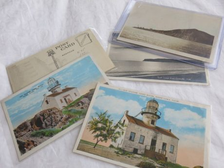 Pick a theme and then search ebay for vintage postcards that matchi it
