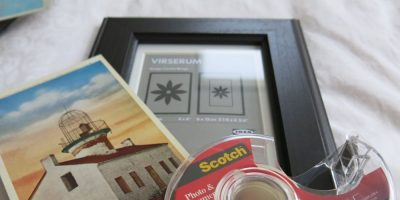 Photo Frame and Vintage Postcard Wall Decor Hack