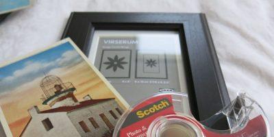 Photo Frame and Vintage Postcard Wall Decor Hack