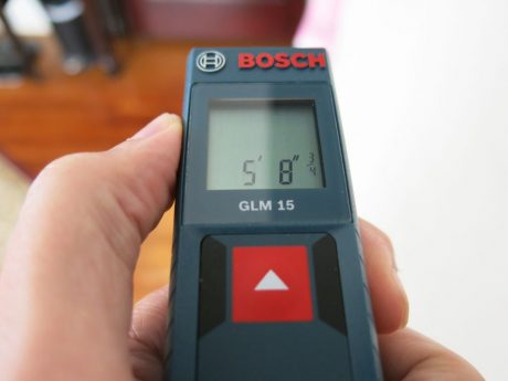 Bosch keeps it simple (and user-friendly) with a one-button design on the GLM 15
