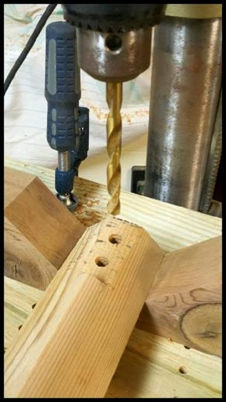 Drilling Legs to Accept Threaded Inserts