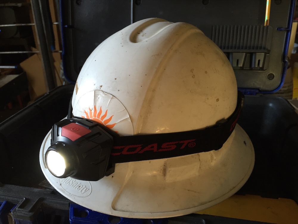 Snug fit on the old hardhat.