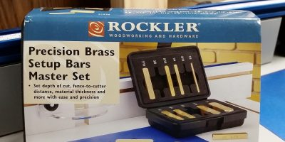 Belly Up To Precision with Rockler Brass Setup Bars