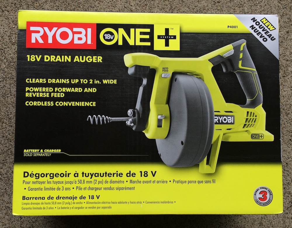 Ryobi 18-Volt ONE Drain Auger Tool Only