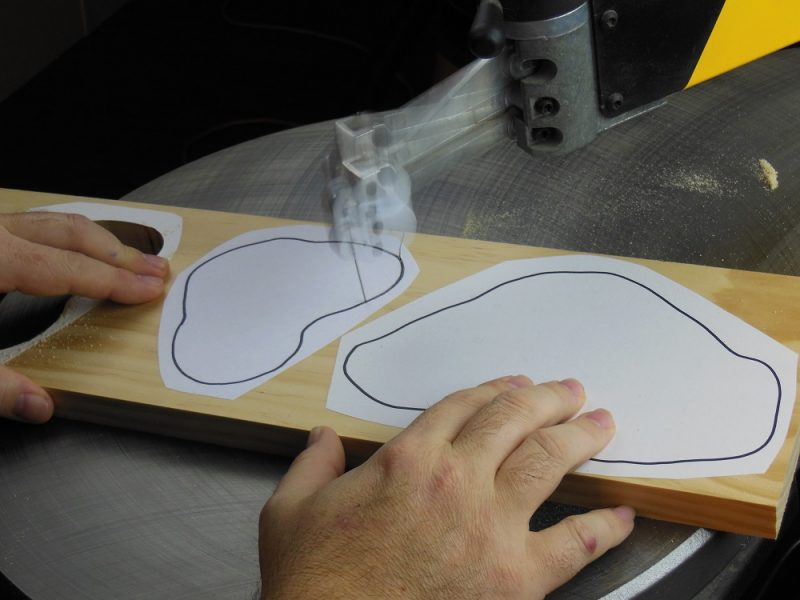 Cutting out the base