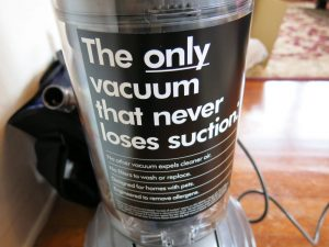Never loses suction - a claim Dyson is quite proud of