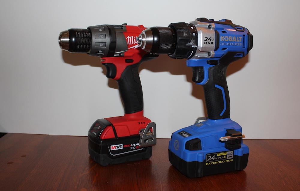 kobalt 24v max brushless tools combo kit – brawny, blue & brushless ...