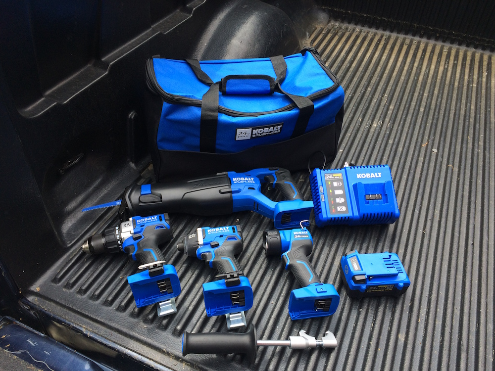 Kobalt Tools Review >> Kobalt 24v Max Brushless Tools Combo Kit Brawny Blue Brushless