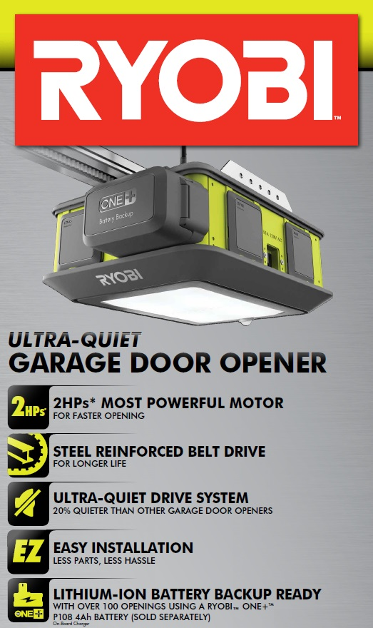 quiet garage door openerRyobi Garage Door Opener Review  Plug n Play in your Garage