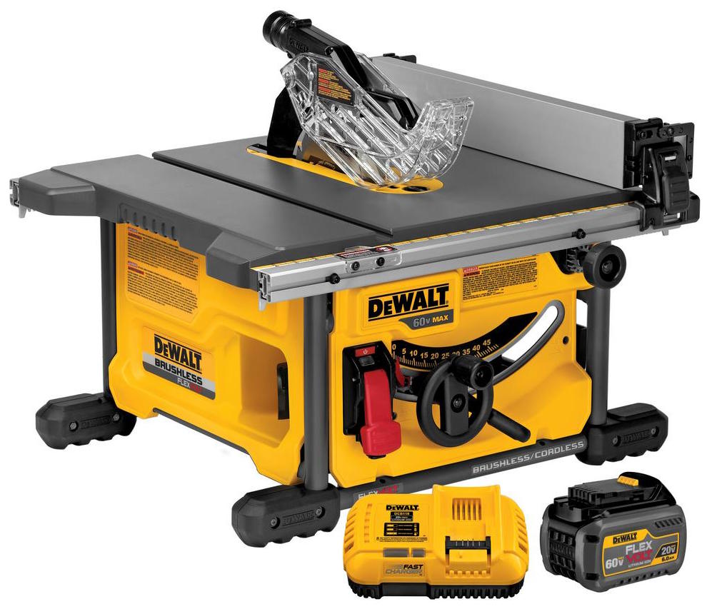 Dewalt Flexvolt Table Saw Dcs7485t1 Let Er Rip With 60