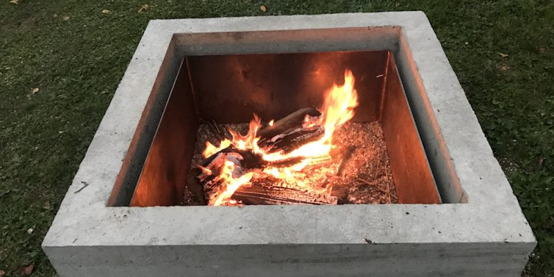 concrete fire pit diy project u2013 quikrete makes it easyish