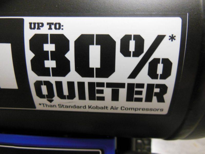 Quieter is good.