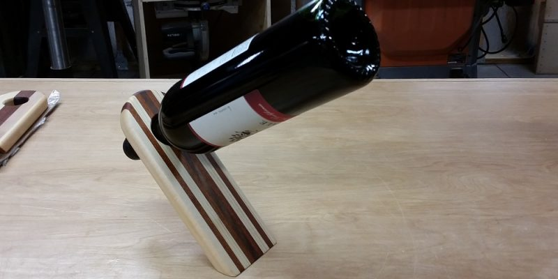 Make Your Own Balancing Wine Bottle Holder - Home Fixated
