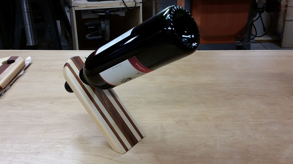 Make Your Own Balancing Wine Bottle Holder
