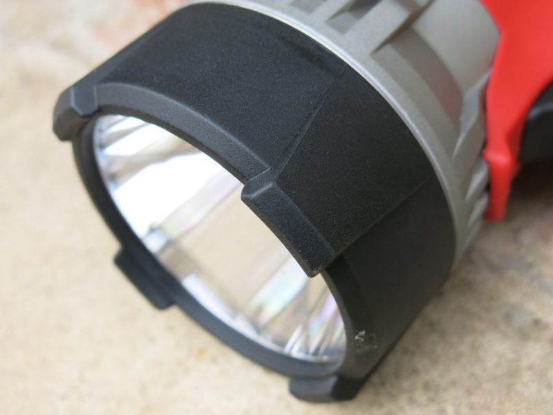 The rubberized bezel protects the front end and adds stability if you put the light face down