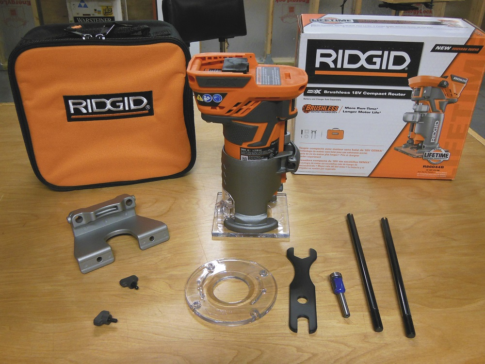 Ridgid R86044 Brushless 18v Compact Trim Router