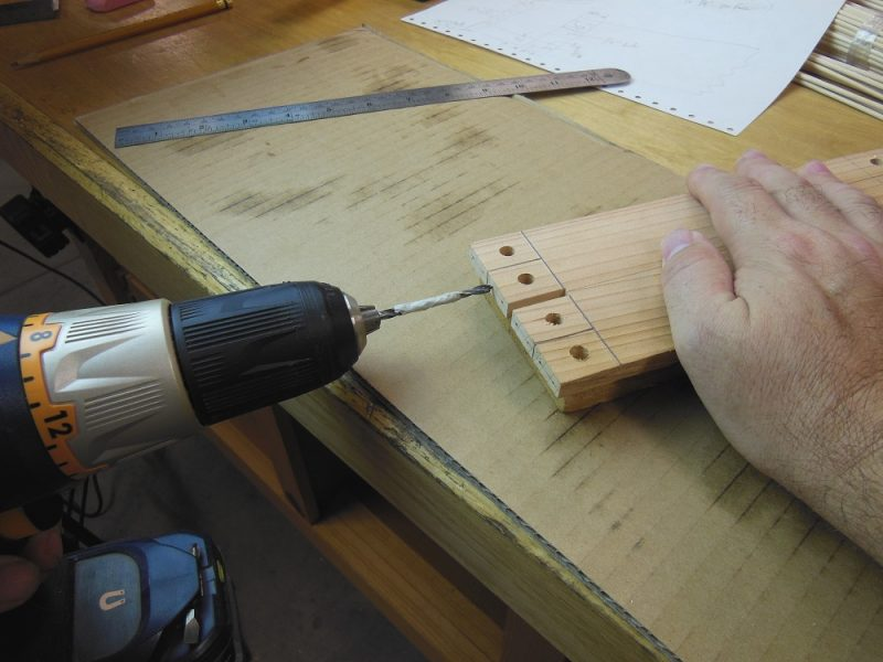 "Drilling 1/8"" holes"