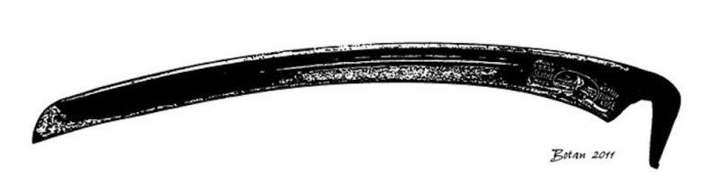 The longer, heavy duty American Blade.  Illustration:onescytherevolution.com