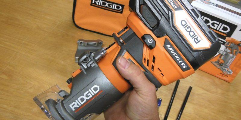 Ridgid R86044 Brushless 18V Compact Trim Router – Trimtastic