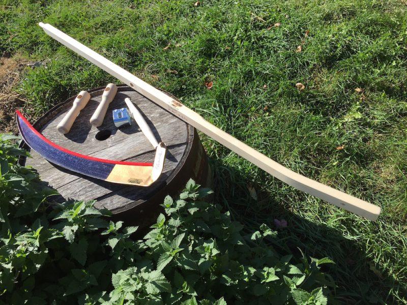 A European scythe kit, complete with custom snath.