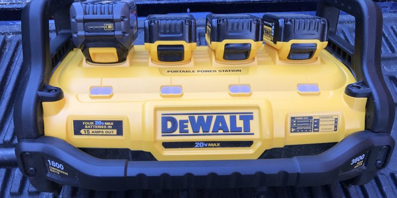 DeWalt Portable Power Station Review – When Does 20 X 4 = 120?