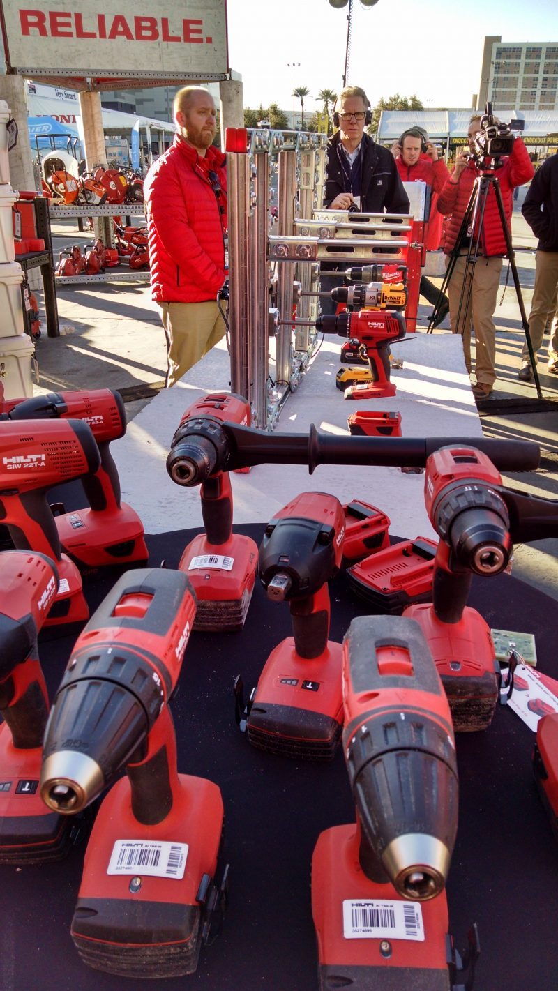 Variety of Hilti cordless tools