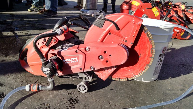 Hilti DSH-P water feed pump on gas demo saw