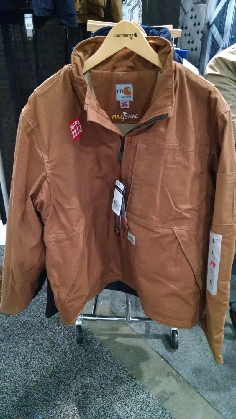 """Carhartt duck jacket with """"Full Swing"""" features for greater flexibility"""