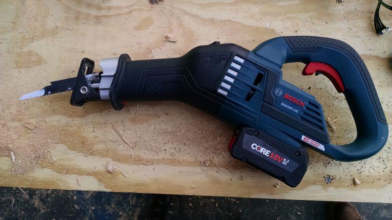 Bosch GSA18V-125 cordless reciprocating saw