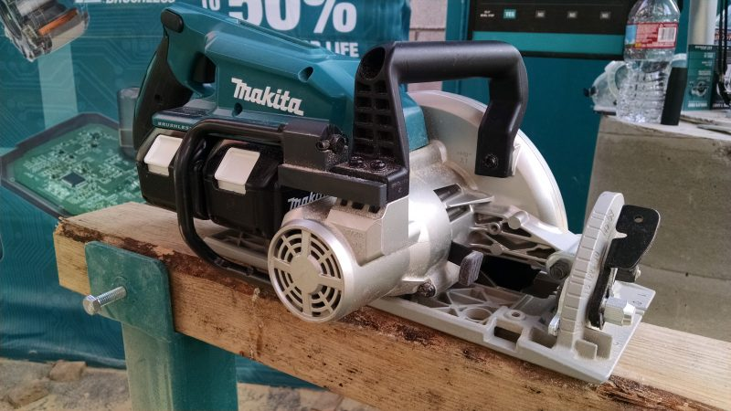 Makita inline circular saw, right view