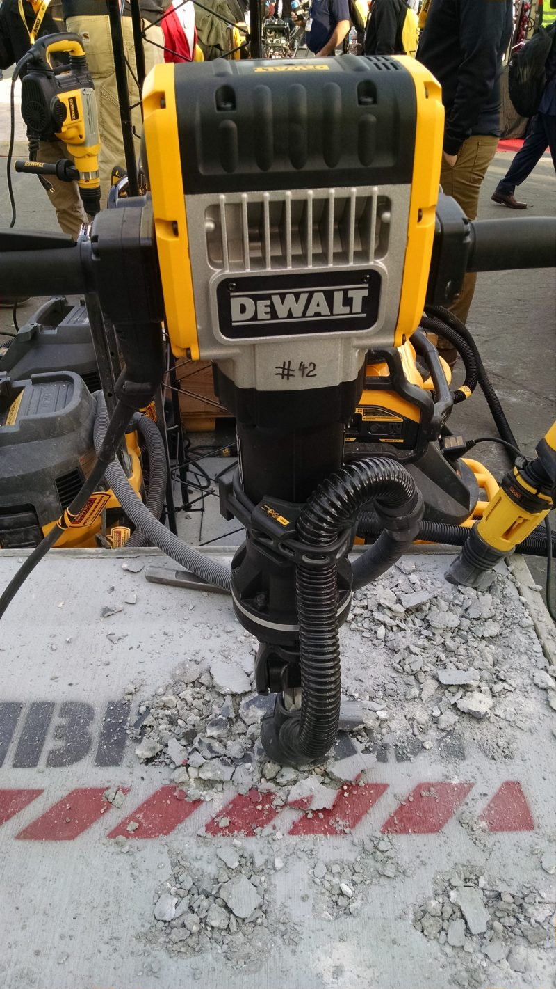 Full size DeWalt concrete breaker with dust collection
