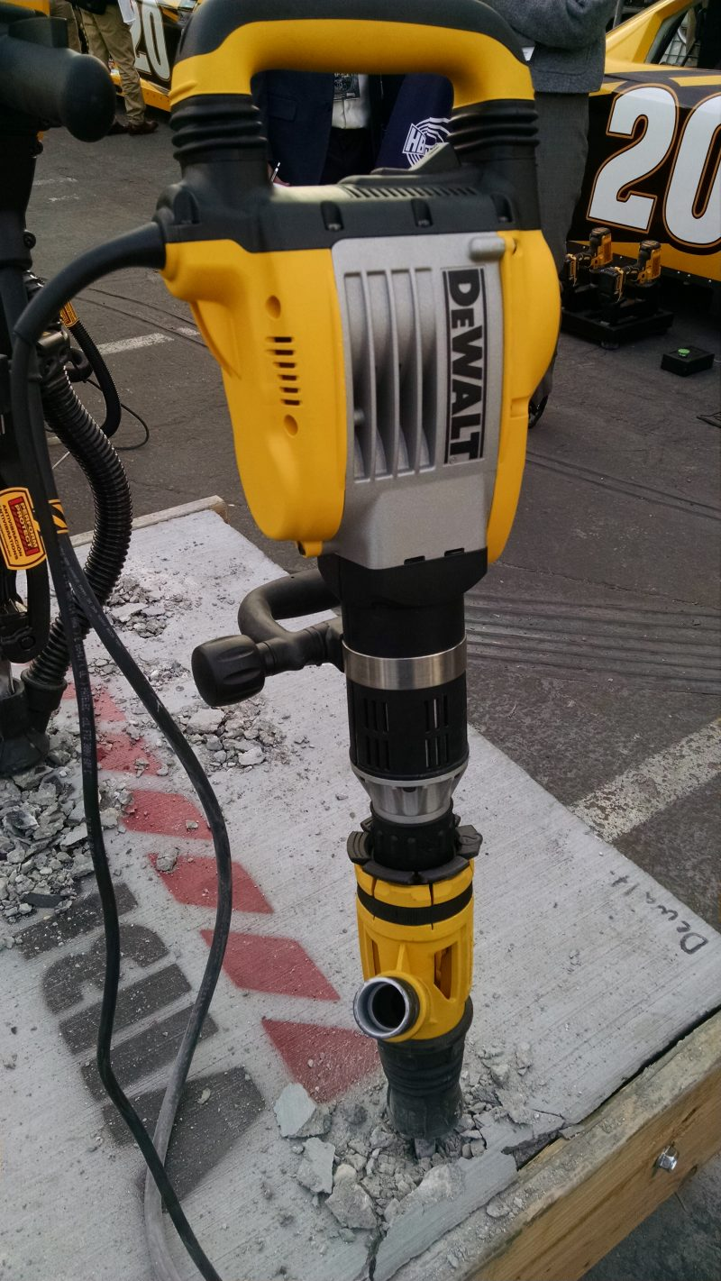 Mid-size DeWalt breaker with dust collection boot