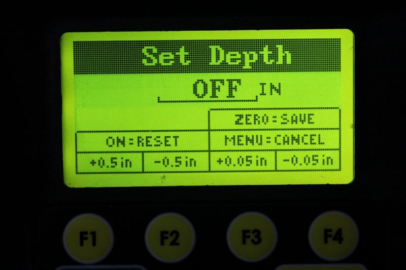 Electronic depth stop