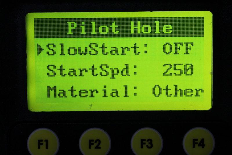 Pilot hole mode