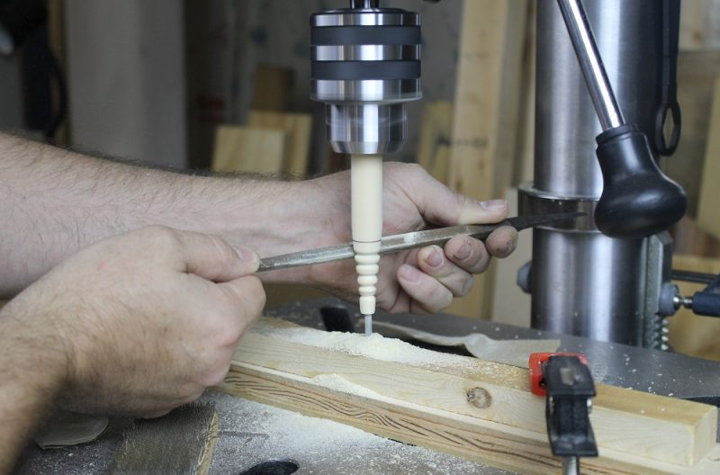 NOVA Voyager DVR Drill Press as a lathe