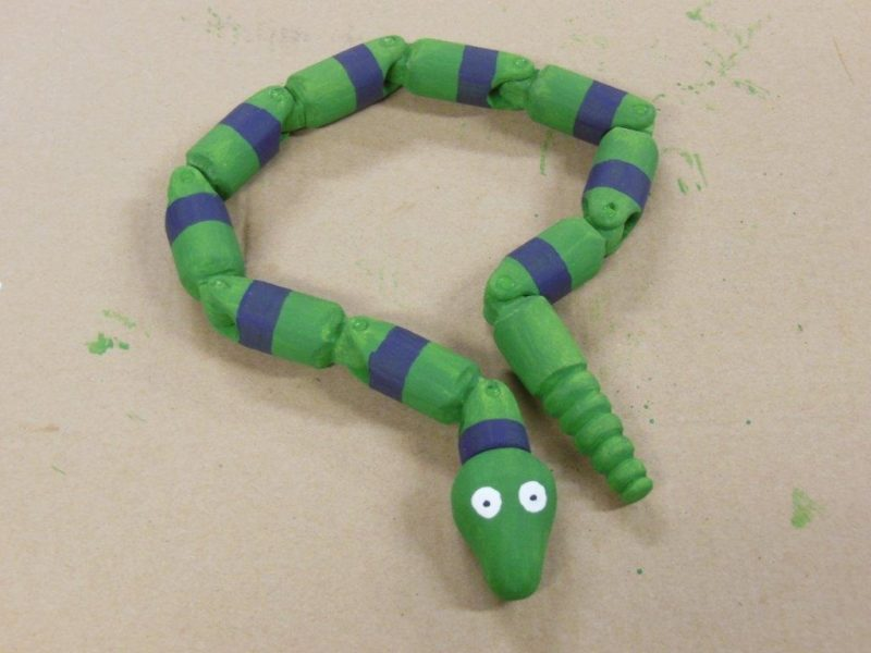 Assembled wiggle snake