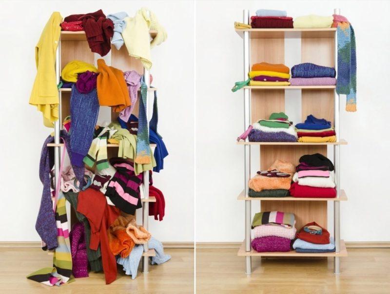 decluttering a closet