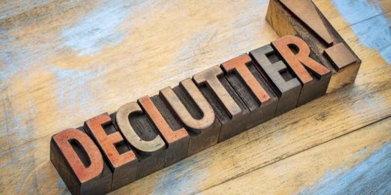 Decluttering – Less is More When Selling Your Home